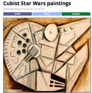 Cubist Star Wars Paintings